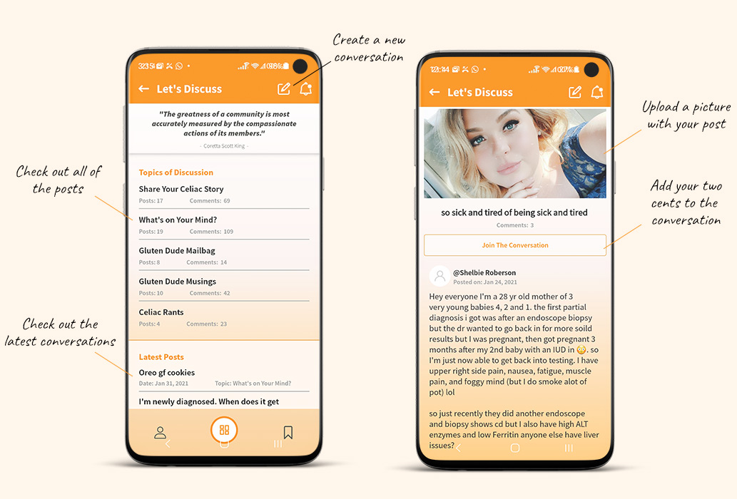 iphone app for celiac disease
