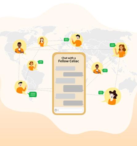 find people with celiac disease mobile app