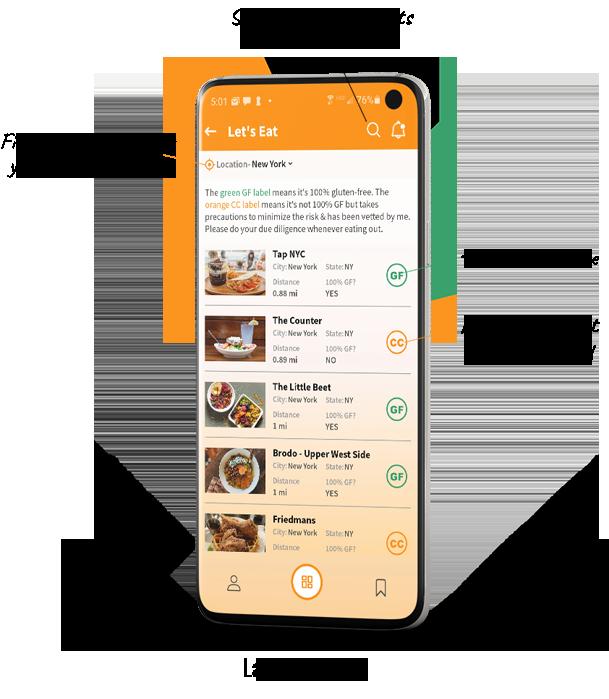 help finding gluten free restaurants