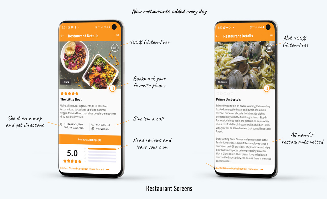 gluten free restaurants on mobile app